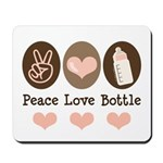Peace Love Bottle Mousepad