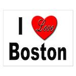 I Love Boston Small Poster
