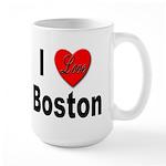 I Love Boston Large Mug