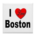 I Love Boston Tile Coaster
