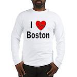 I Love Boston (Front) Long Sleeve T-Shirt