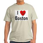 I Love Boston (Front) Ash Grey T-Shirt