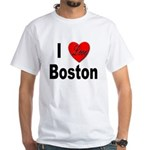 I Love Boston (Front) White T-Shirt