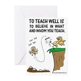 Believe in Whom You Teach Greeting Cards (Pk of 10