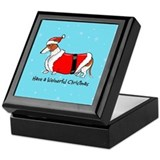 Red Piebald Santa Keepsake Box