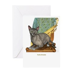 Tortie Oriental Greeting Card