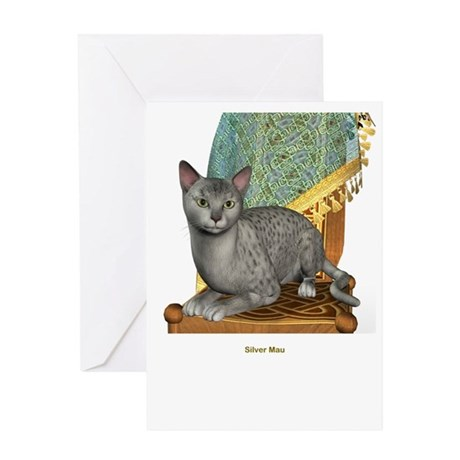 Silver Mau Greeting Card