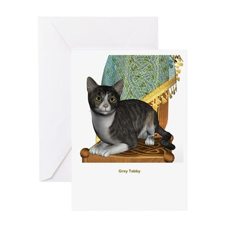 Grey Tabby Greeting Card
