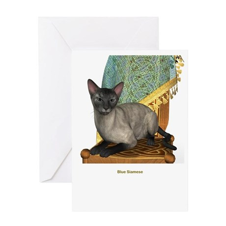 Blue Siamese Greeting Card