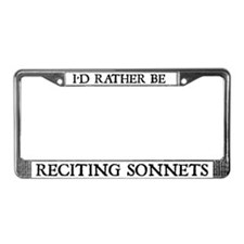 Reciting Sonnets License Plate Frame