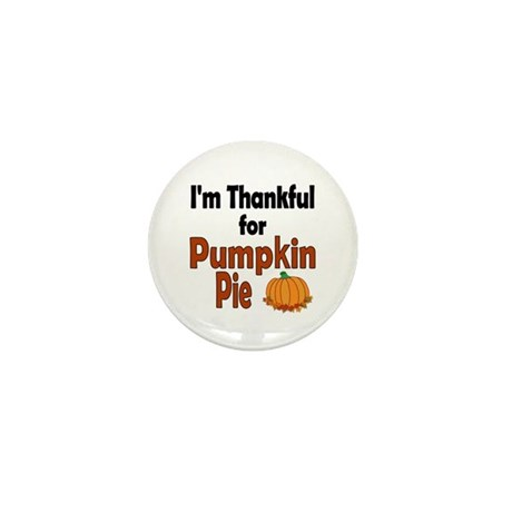 Thanksgiving Pumpkin Pie Mini Button