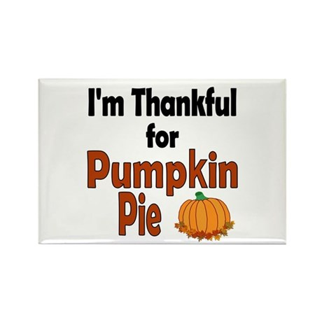 Thanksgiving Pumpkin Pie Rectangle Magnet (100 pac