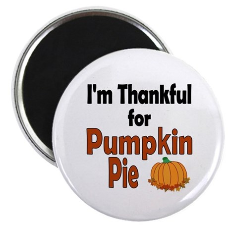 "Thanksgiving Pumpkin Pie 2.25"" Magnet (10 pack)"