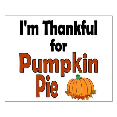 Thanksgiving Pumpkin Pie Small Poster