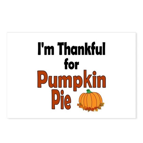 Thanksgiving Pumpkin Pie Postcards (Package of 8)