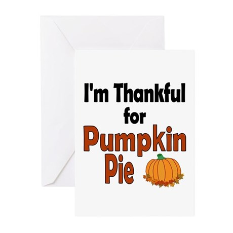 Thanksgiving Pumpkin Pie Greeting Cards (Pk of 10)