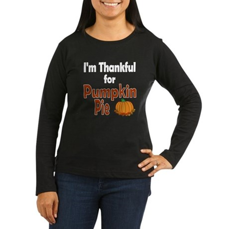 Thanksgiving Pumpkin Pie Women's Long Sleeve Dark