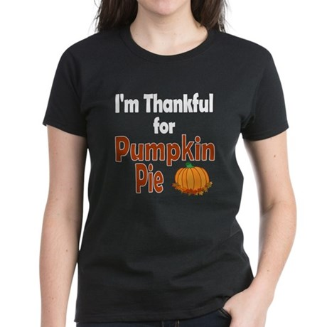 Thanksgiving Pumpkin Pie Women's Dark T-Shirt