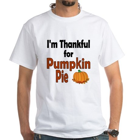 Thanksgiving Pumpkin Pie White T-Shirt