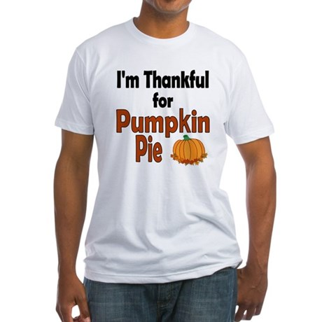 Thanksgiving Pumpkin Pie Fitted T-Shirt