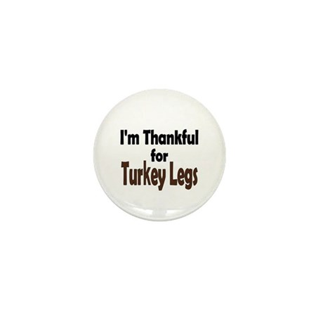 Thanksgiving Turkey Leg Mini Button