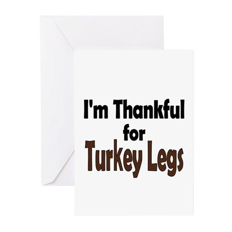 Thanksgiving Turkey Leg Greeting Cards (Pk of 10)