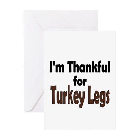 Thanksgiving Turkey Leg Greeting Card