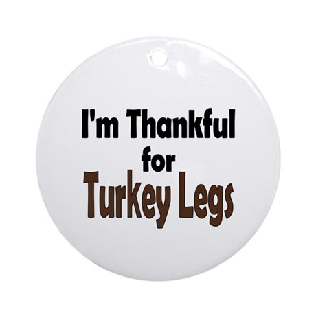 Thanksgiving Turkey Leg Ornament (Round)