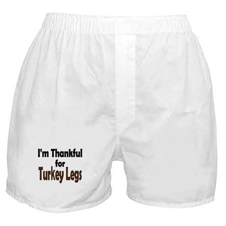 Thanksgiving Turkey Leg Boxer Shorts