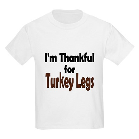 Thanksgiving Turkey Leg Kids Light T-Shirt