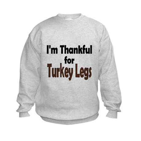 Thanksgiving Turkey Leg Kids Sweatshirt