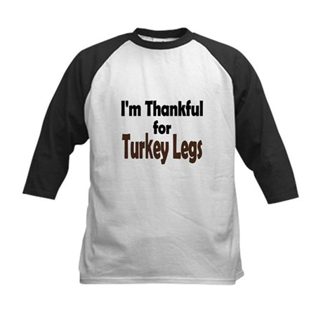 Thanksgiving Turkey Leg Kids Baseball Jersey