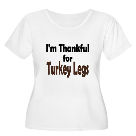 Thanksgiving Turkey Leg Women's Plus Size Scoop Ne