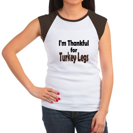 Thanksgiving Turkey Leg Women's Cap Sleeve T-Shirt