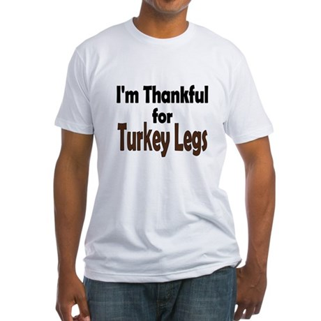 Thanksgiving Turkey Leg Fitted T-Shirt