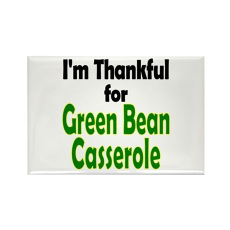 Green Bean Casserole Thanksgiving Rectangle Magnet