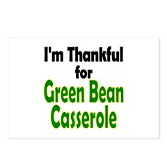 Green Bean Casserole Thanksgiving Postcards (Packa