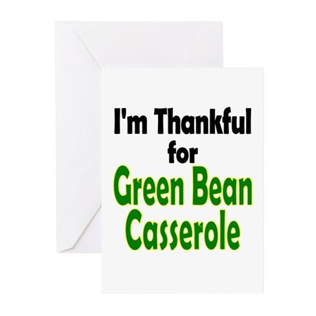 Green Bean Casserole Thanksgiving Greeting Cards (