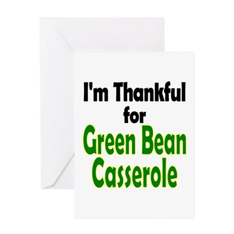 Green Bean Casserole Thanksgiving Greeting Card