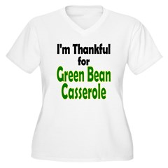 Green Bean Casserole Thanksgiving Women's Plus Siz