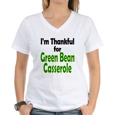 Green Bean Casserole Thanksgiving Women's V-Neck T