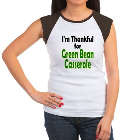 Green Bean Casserole Thanksgiving Women's Cap Slee