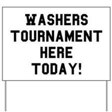 Washers Tournament Yard Sign - Washer Toss Game