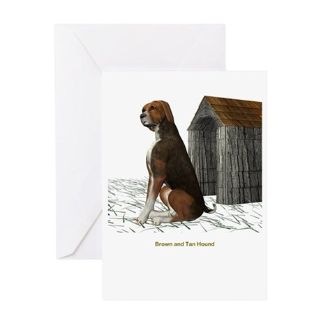 Brown N Tan Hound Greeting Card