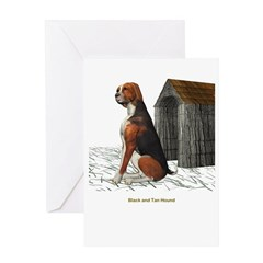 Black N Tan Hound Greeting Card