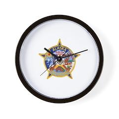 Alaska Trooper Masons Wall Clock