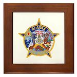 Alaska Trooper Masons Framed Tile