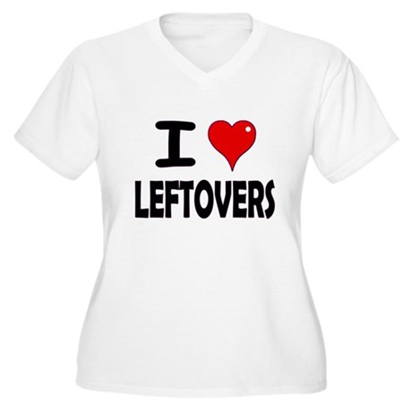 Thanksgiving Leftovers Women's Plus Size V-Neck T-