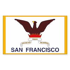 San Francisco Flag Rectangle Decal