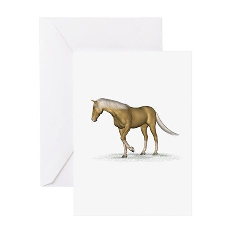 Horse (Palomino) Greeting Card
